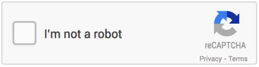 пример новой рекапчи, Google ReCaptcha V2, в которой пользователю нужно установить флажок
