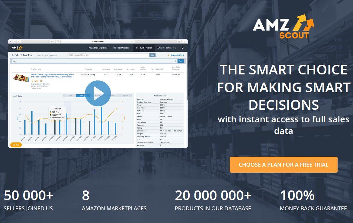 веб-сайт AMZScout