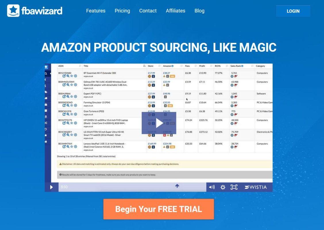 веб-сайт FBA Wizard Pro