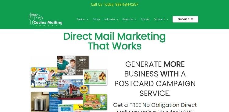сайт Cactus Mailing