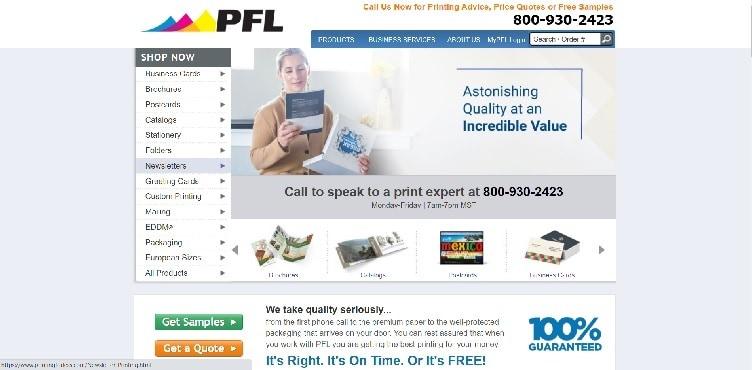 сайт PrintingForLess