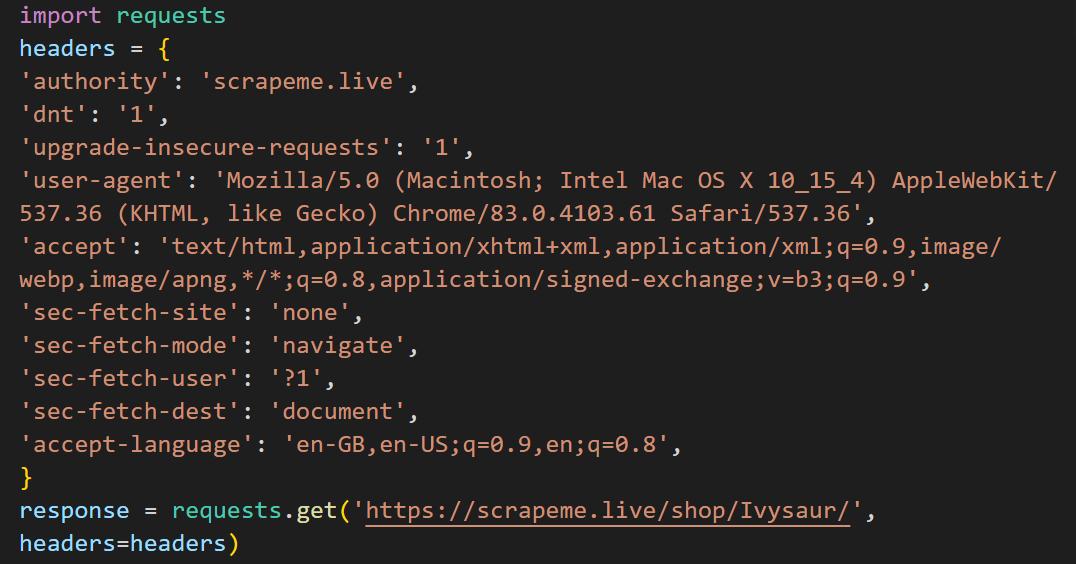 пример кода на Python, преобразованного из команды curl