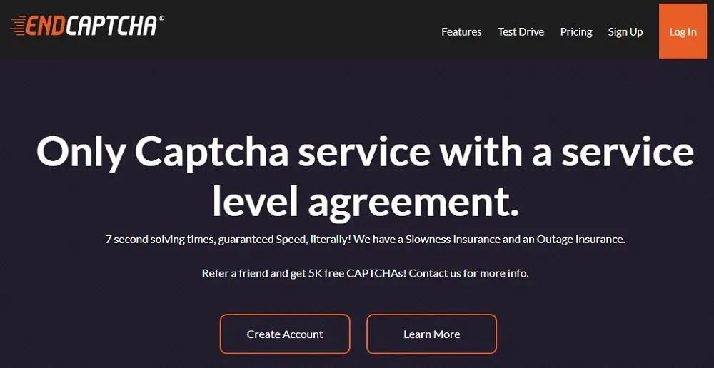 домашняя страница EndCaptcha