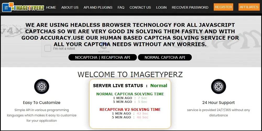 домашняя страница ImageTyperz