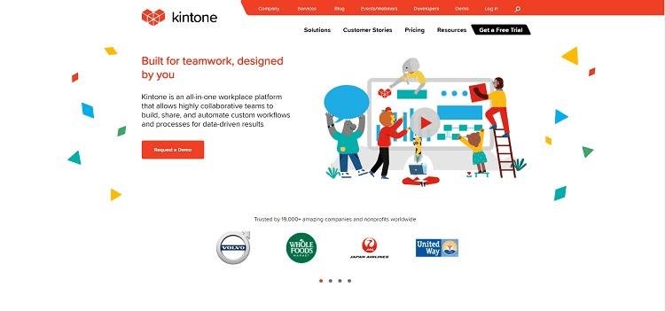 сайт Kintone