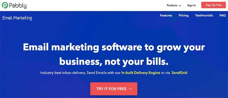 сайт Pabbly Email Marketing