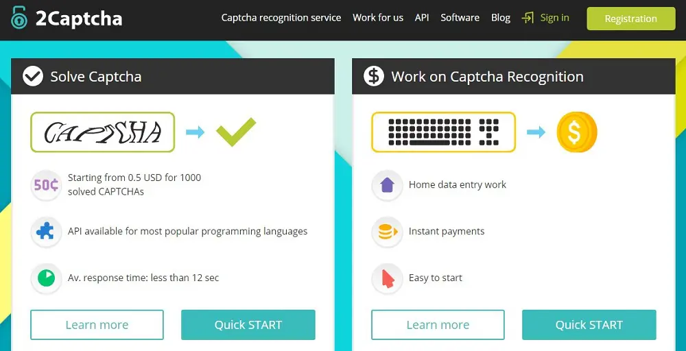 сайт веб-сервиса 2Captcha