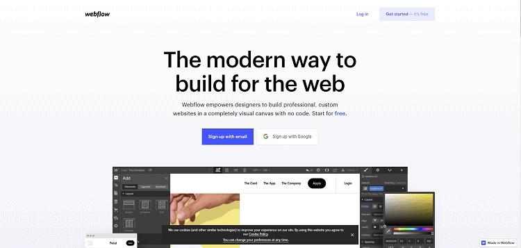 сайт Webflow