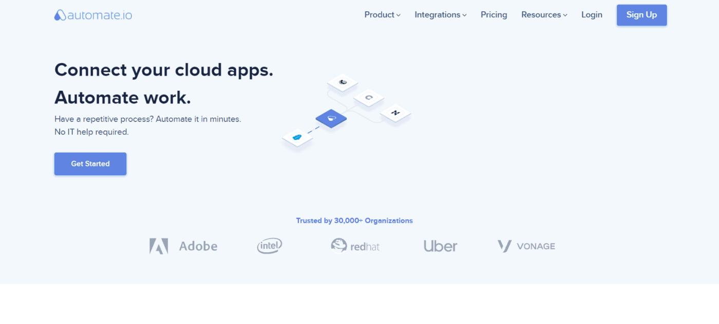 сайт Automate.io