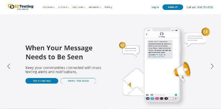сайт EZ Texting