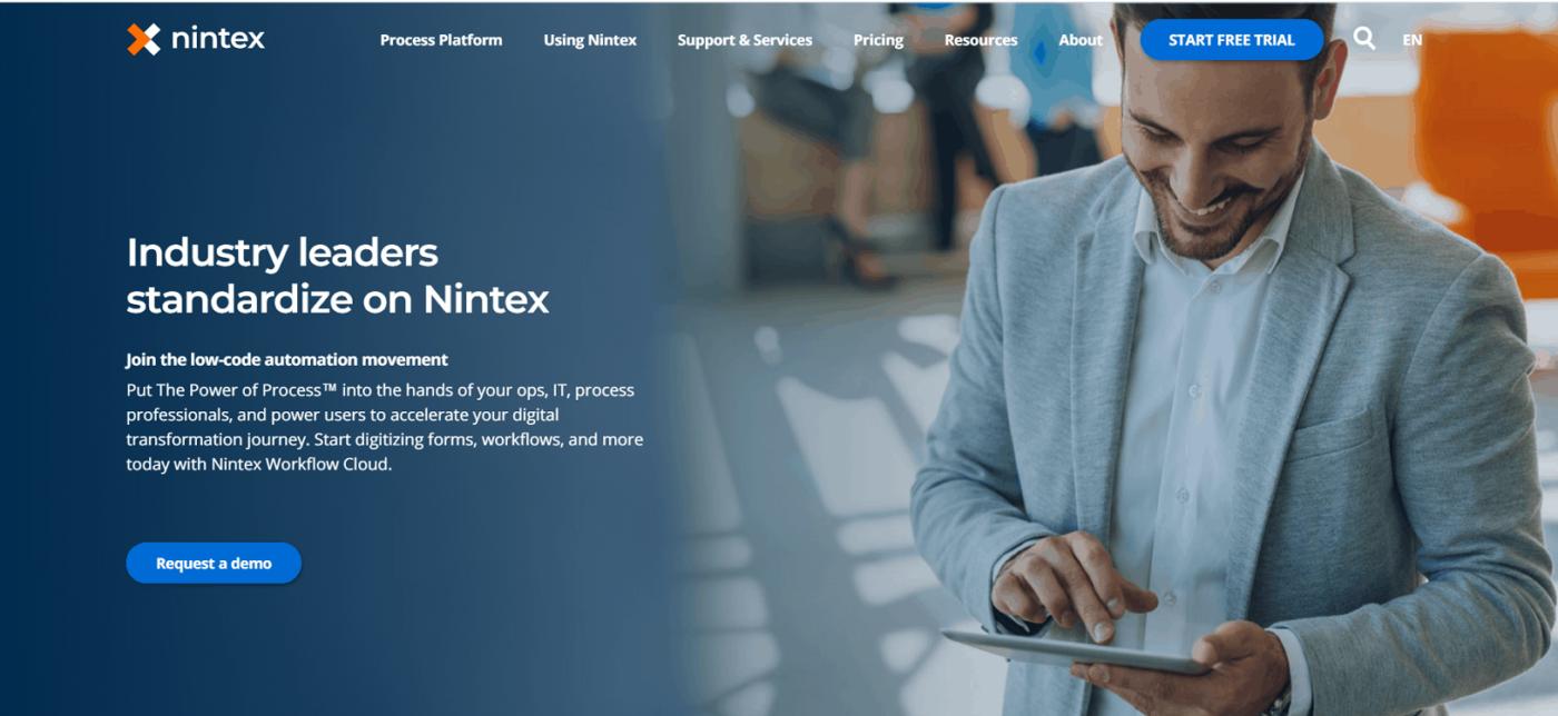 сайт Nintex