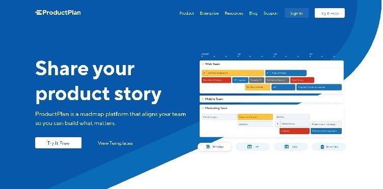 сайт ProductPlan