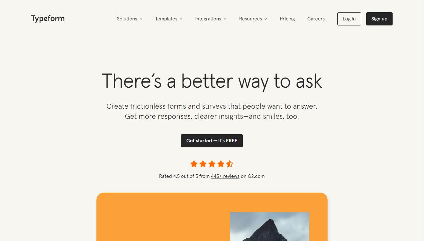 сайт Typeform