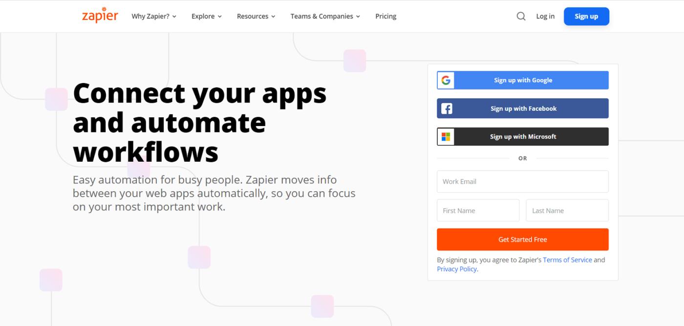 сайт Zapier